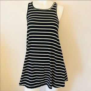 4 /$25 Mossimo black white striped fit flare dress
